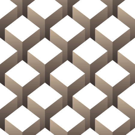 optical illusion: cubes seamless pattern