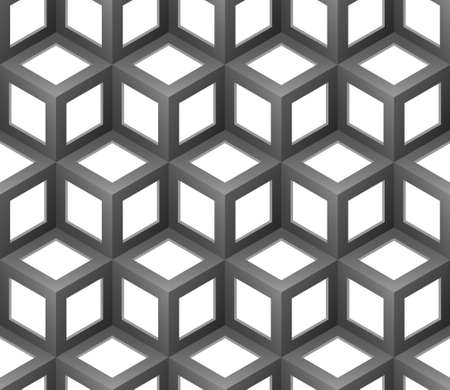 metal grate: abstract cubes seamless pattern  Illustration