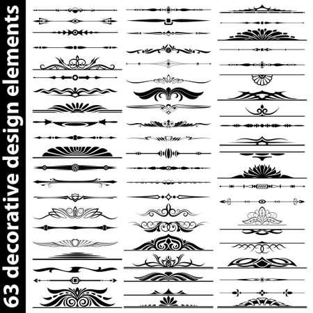 pagina decoratie divider ontwerp elemens set Vector Illustratie