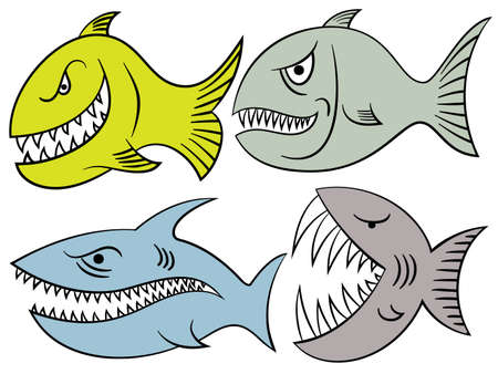 livid: angry fishes Illustration