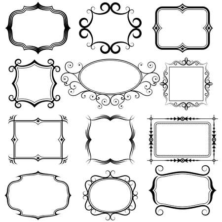 ornate frame and borders Vector