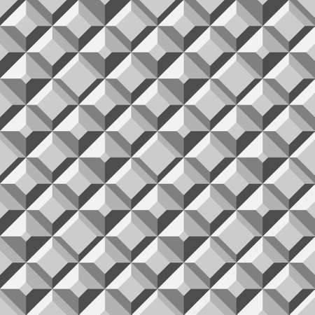 geometric pattern in a square: metal cell seamless pattern Illustration