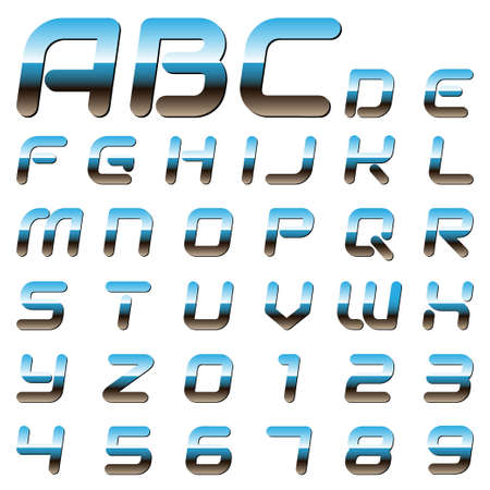 chrome metallic font Stock Vector - 15238593