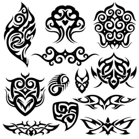 tribal tattoo: tribal tattoo set