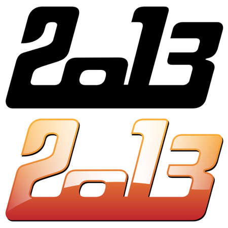happy new year 2013 Stock Vector - 15930879