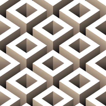 boîtes abstraites 3d seamless pattern