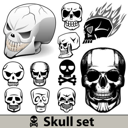 skull set Stock Vector - 15930835