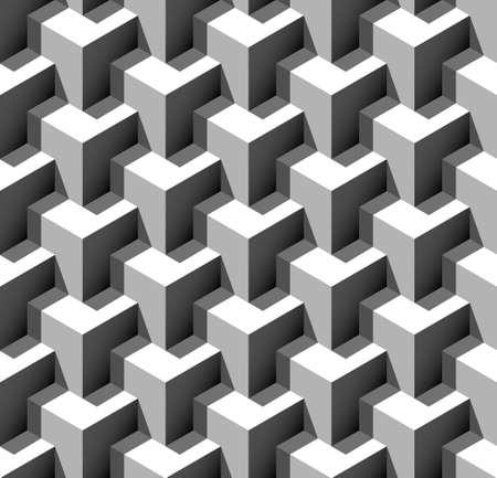 3 d のシームレスなパターン ベクトル イラスト