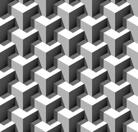 cubic: 3d seamless pattern vector illustration
