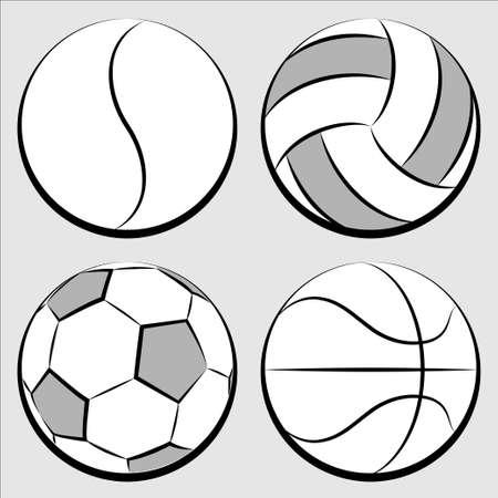 basketball ball: sport balls set