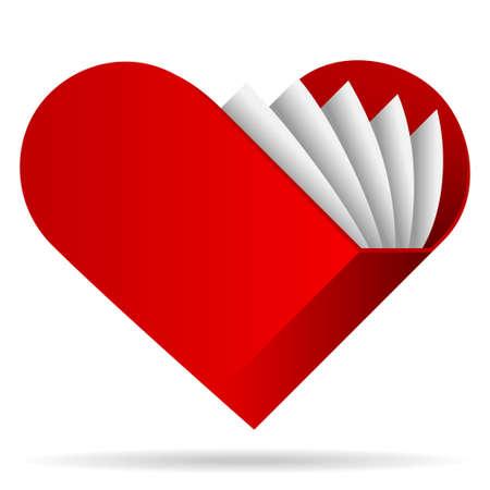 opened book: book shape heart