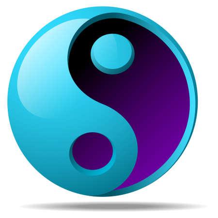 budha: 3d ying yang sign