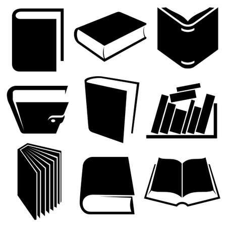 book icons and signs set Vector