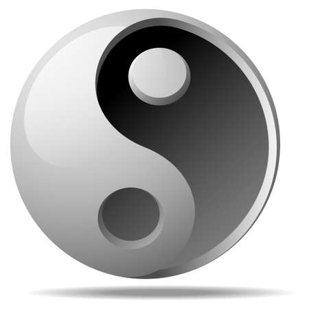 ying-yang sign Vector