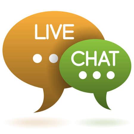 soutien: chat en direct discours ballons ic�ne Illustration