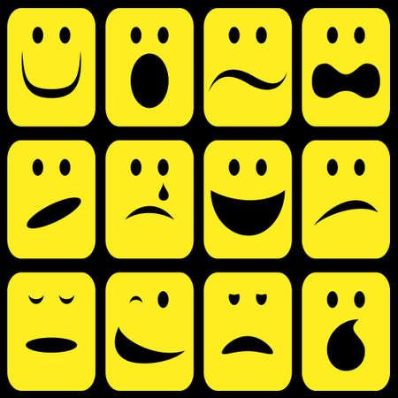caricaturas de personas: signos emoci�n establecer