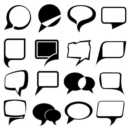speech bubble balloons set Vector