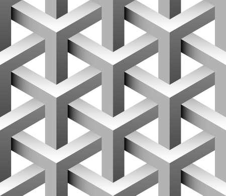 arte optico: Patrón transparente 3d Vectores