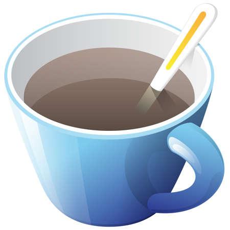 unwind: blue cup of coffee