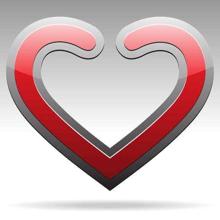 composite material: metallic heart sign Illustration