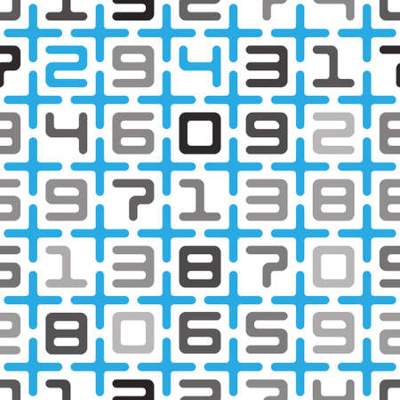 digits and crosses seamless pattern Stock Vector - 17405308