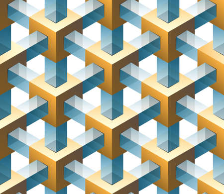 composite material: gold and glass seamless pattern