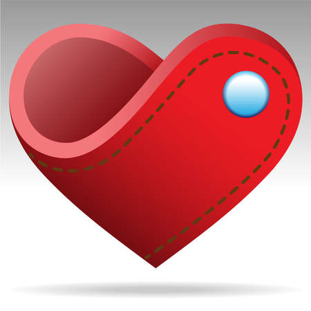 notecase: wallet shape heart object