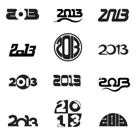 2013 number design set Stock Photo - 18877030