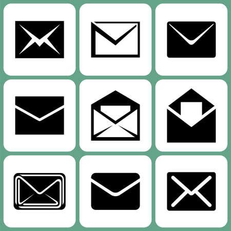 unread: mail icons set Illustration