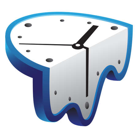 melting clock illustration Çizim