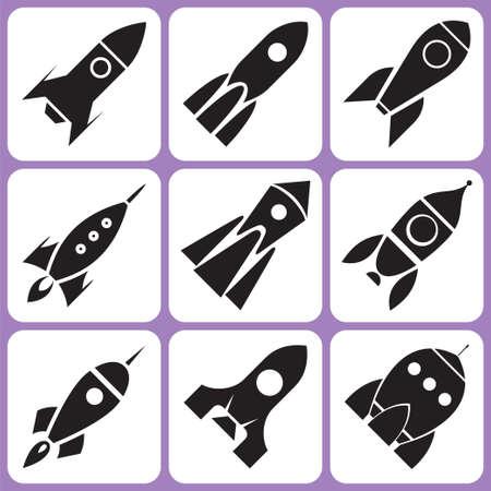 mision: Iconos de cohetes establecer