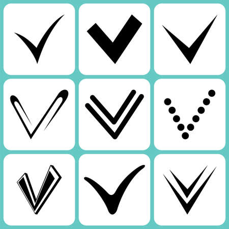 tick signs set Stock Vector - 18876935
