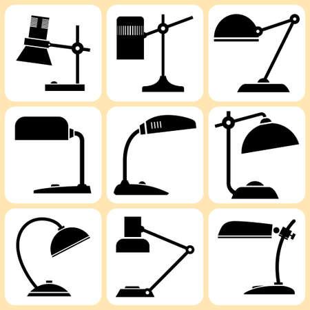 lampen set Vector Illustratie