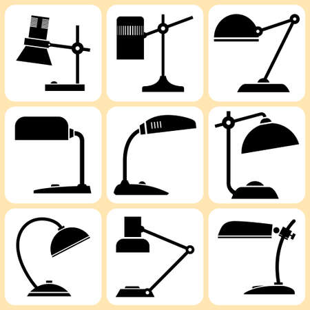lampshade: lamps set  Illustration