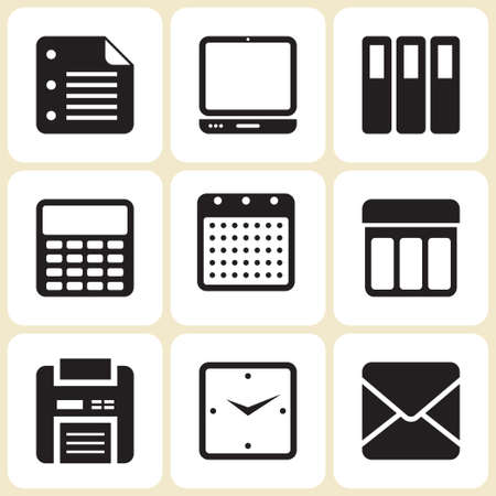 office icons set  illustration