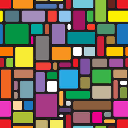 square shape: abstract seamless pattern Illustration