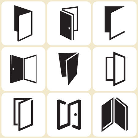 door: door icons set