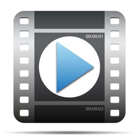 Icono de la película de cine Foto de archivo - 21642751