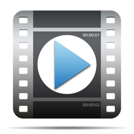video player: movie film icon Illustration