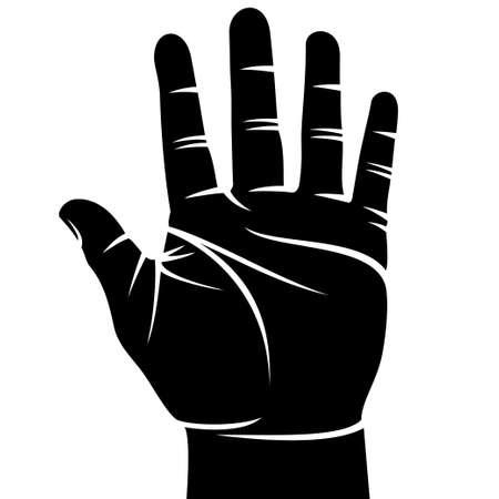 male hand black Vector