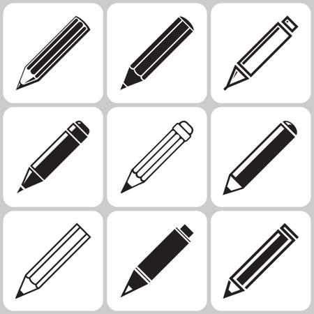 pencils: pencil icon set