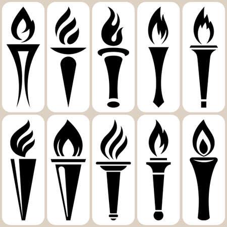 icônes Set avec brûleur