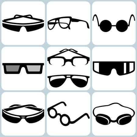 spec: glasses icon set