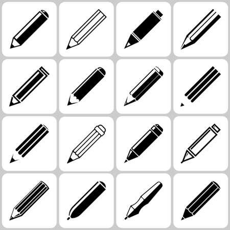 pencil set: pencil icons set Illustration