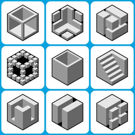 bossy: cube icons set 8