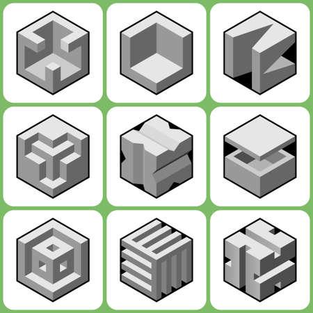 bossy: cube icons set 7