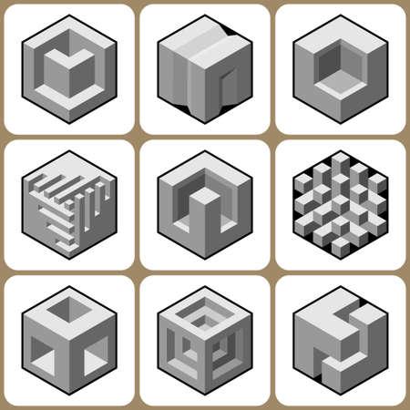 bossy: cube icons set 5