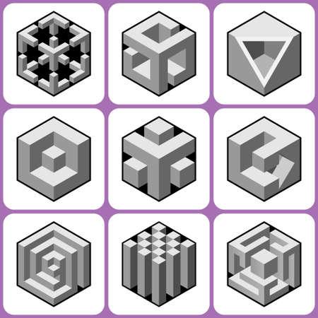 cubic: cube icons set 4