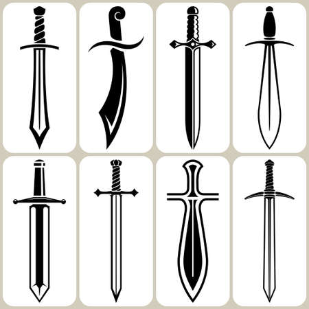 sabre: swords set Illustration