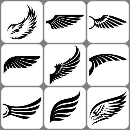 wings set Stock Vector - 22960290